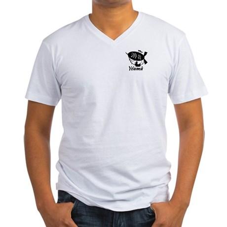 youmu-mens-vneck-tshirt-white-front