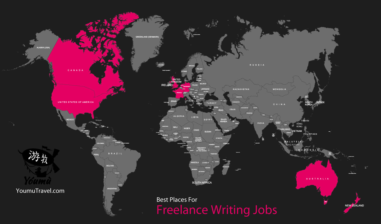 Freelance Writing Jobs - Best Places Job Map