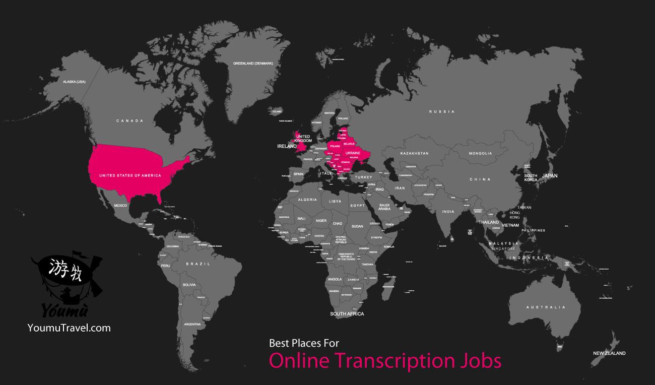 Online Transcription Jobs - Best Places Job Map