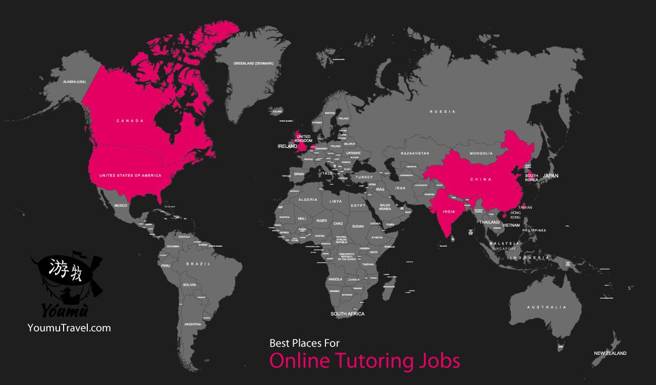 Online Tutoring Jobs - Best Places Job Map