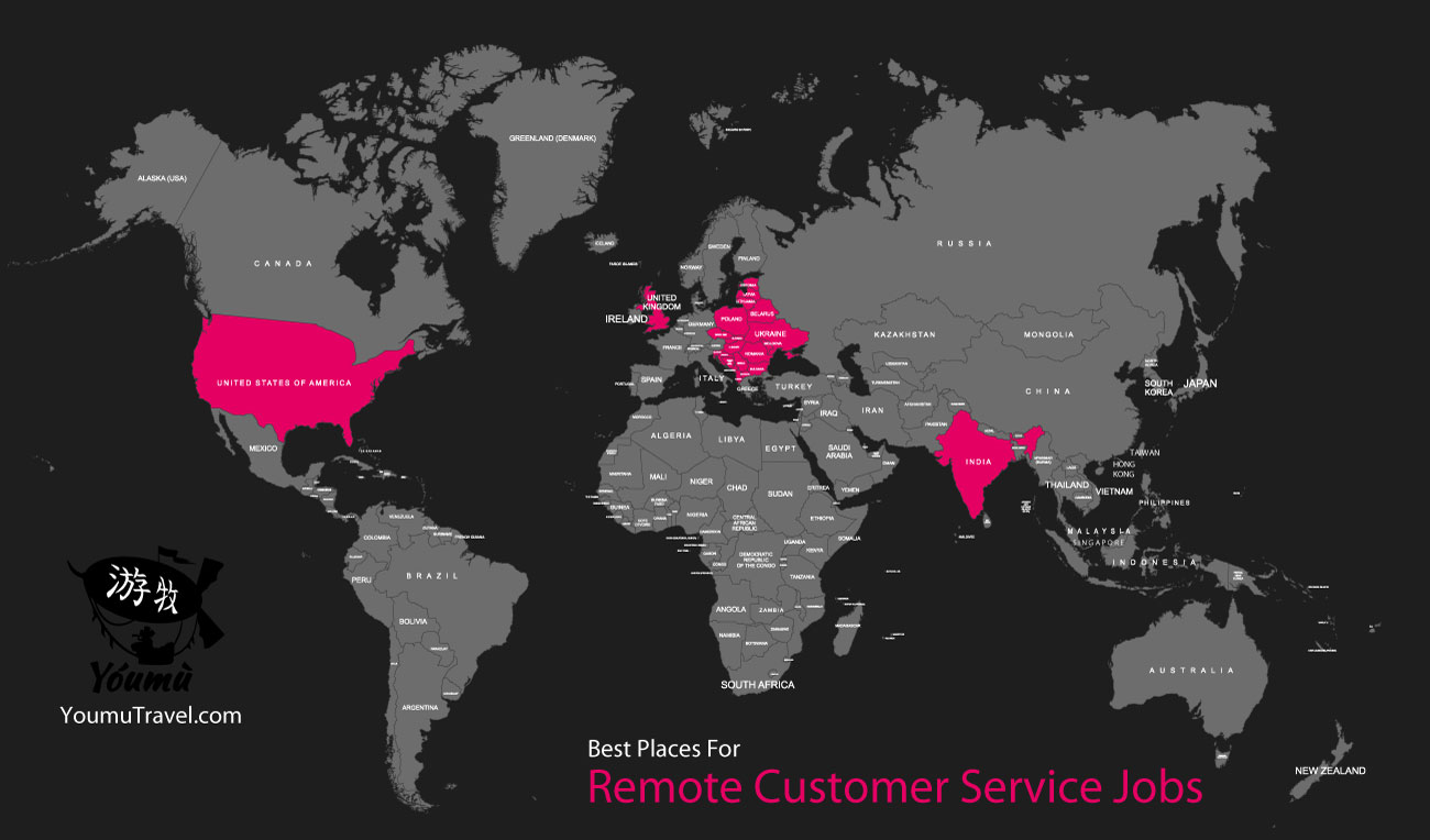 Remote Customer Service Jobs - Best Places Job Map