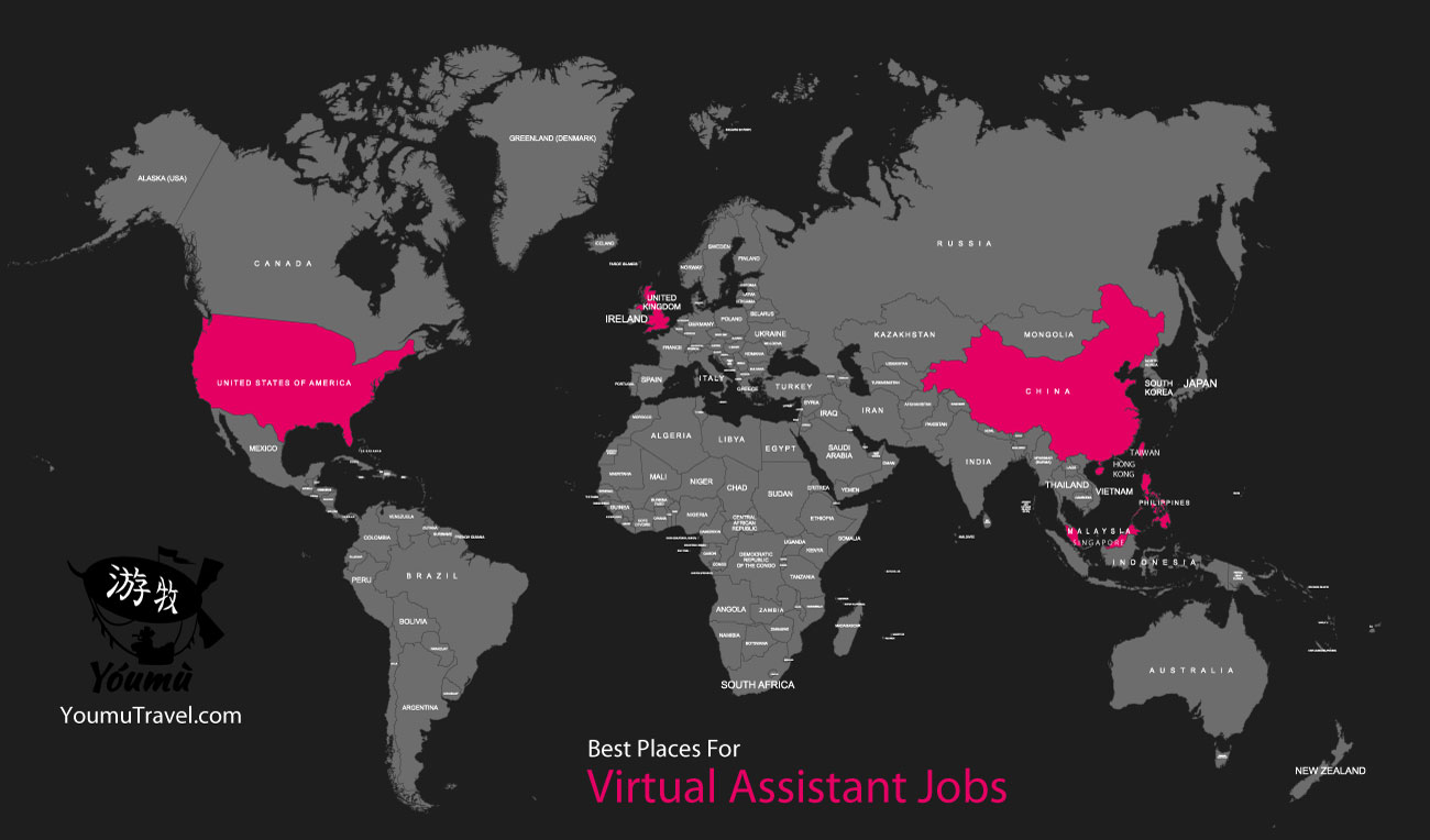 Virtual Assistant Jobs - Best Places Job Map